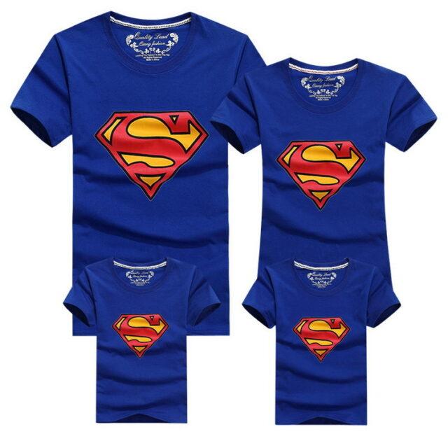 Superhero Family Matching Plaid T-Shirts