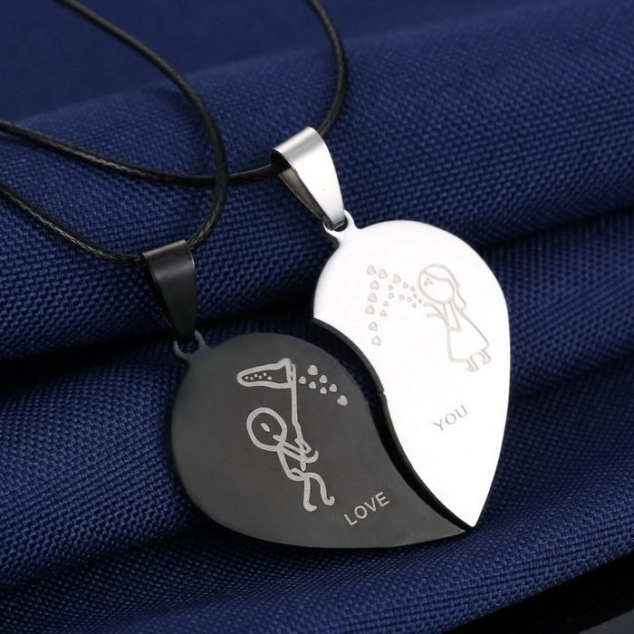 Couples Jewelry Broken Heart Necklaces