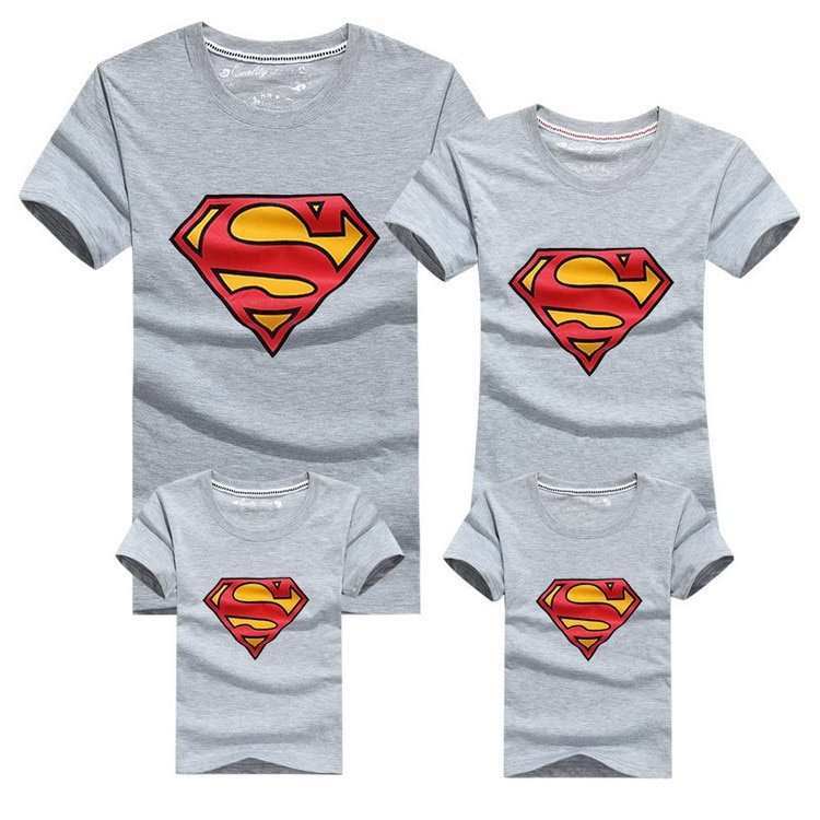 Superman Print Family Matching Outfit Set